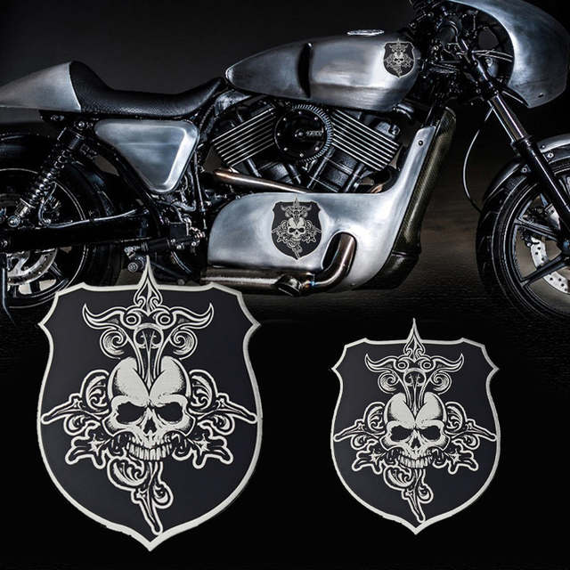 Tancredy D Metal Stickers Skull Stickers For Harley Davidson - Kawasaki motorcycles stickers