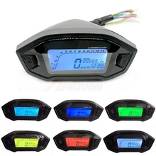 Universal Motorcycle LCD Digital Speedometer Odometer Backlight for 1,2,4 Cylinders