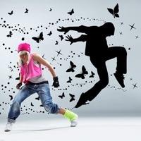 Хип-хоп танец средняя школа музыка классе школы боевых искусств обучение комната стены стикеры окружающей поколения мечта танец