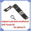 64 gb 100% original placa base placa madre para iphone 6 con touch id desbloqueo de fábrica con la huella digital de la placa lógica