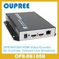 Loopback OPR-NH100H H.264 Codificador De Vídeo HDMI com HDMI para Transmissão de Transmissão Ao Vivo, YouTube, Ustream, Twitter, etc.