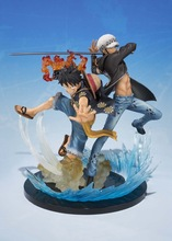 Anime One Piece  5th Anniversary Luffy VS Trafalgar Law PVC Action Figure Collectible Model Toy 8 66statue one piece the straw hat pirates monkey d luffy vs rob lucci gk action figure collectible model toy 22cm box d822