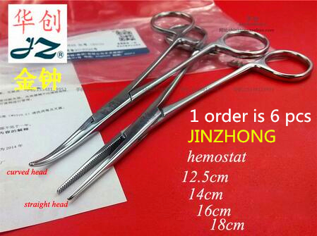 Здесь продается  jinzhong JZ surgical instrument straight curved head Hemostat forcep stainless steel medical Double-fold eyelids Hemostat clamp  Красота и здоровье