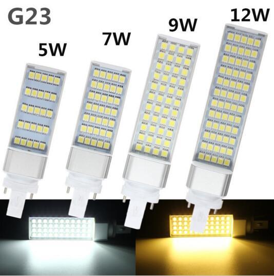 LED G23 E27 G24 Horizontal Plug lights corn bulb SMD5050 led lamp 180 degeree spot AC 85-265V 5W 7W 9W 12W lighting 6pcs sencart g9 1500lm 15w smd2835 180 led corn bulb