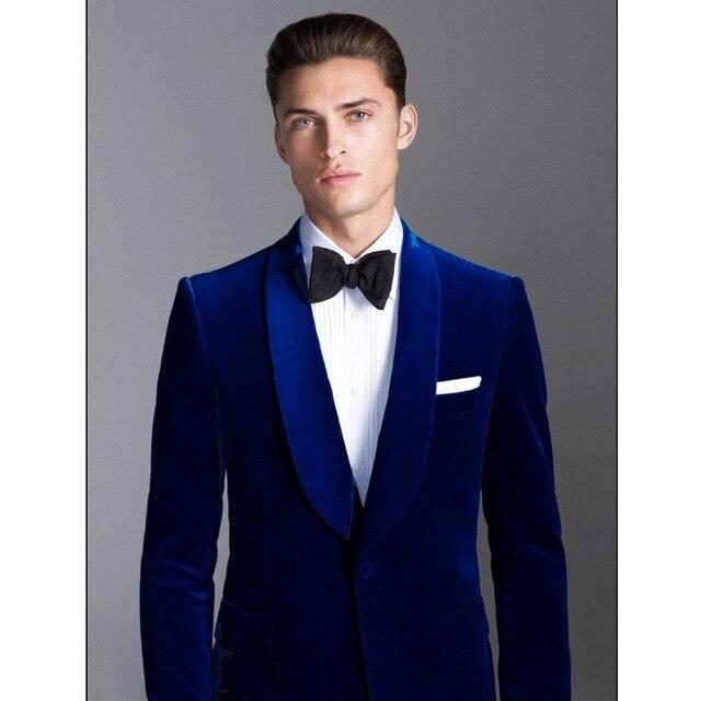 656d26c8271 Dark blue mens new suit (coat + pants) for wedding Xinlang   best man