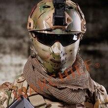 Новинка, военная Военная защитная маска для поллица CS, цветная тактическая страйкбольная маска для охоты, подходит для быстрого шлема