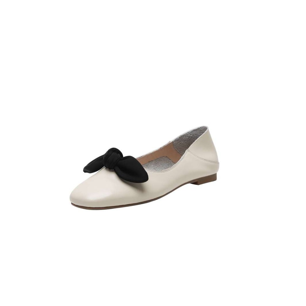 Chaussures Confortable En Bout Décoration Papillon 2019 Beige Conduite Cuir Vocation Brown Carré cousu Appartements Main Slip light L95 noeud Sur De Classique noir Mocassins aqI7zq