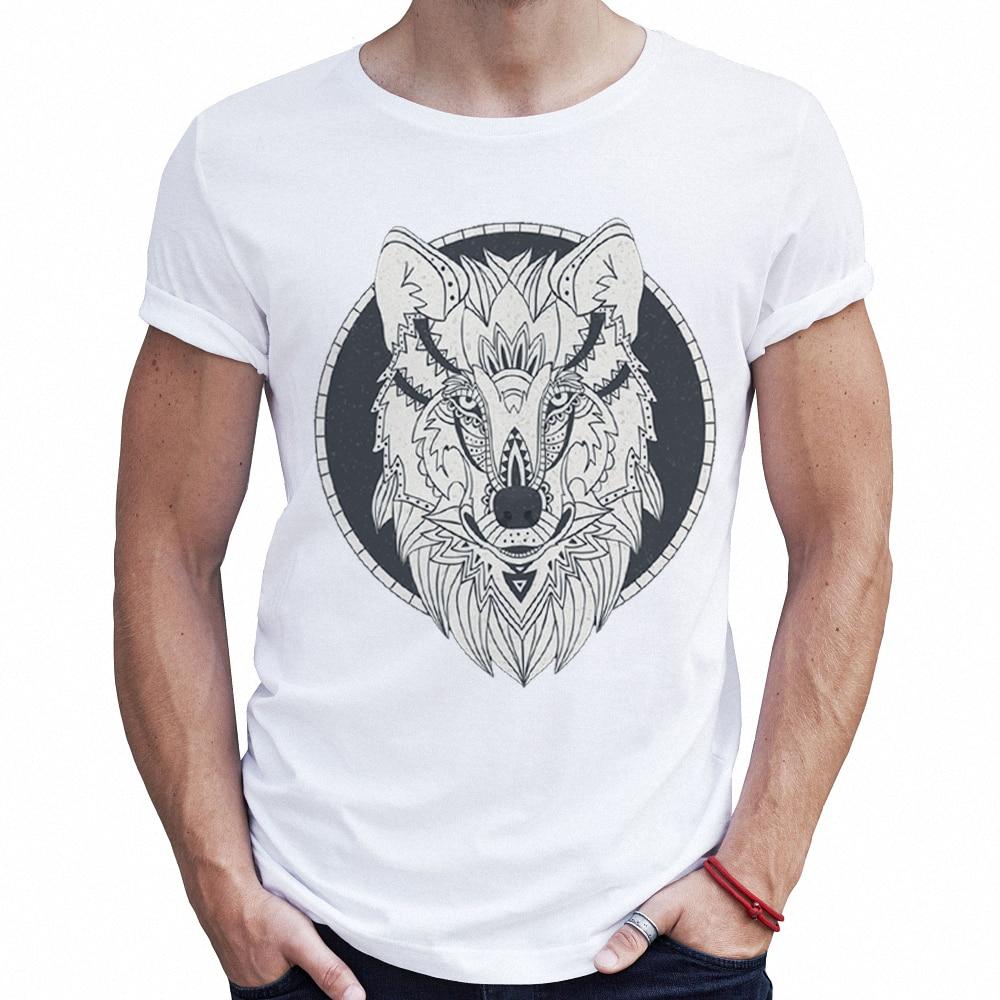 09867137acb High Quality Animal Male T Shirts Wolf 3d Print Graphic Tee Fake ...