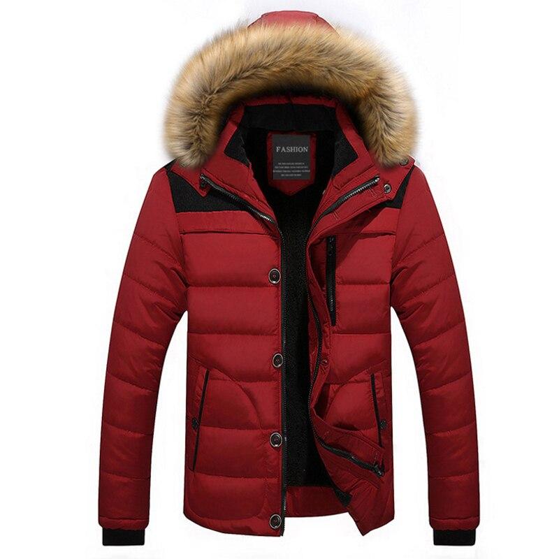 Зимняя куртка Для мужчин меховые парки с капюшоном Для мужчин s Лох теплые куртки Casaco Masculino ветрозащитный пальто Для мужчин верхняя одежда п...