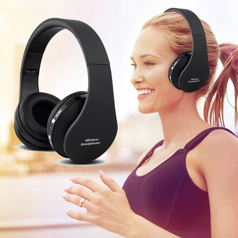 Foldable Bluetooth Headphones Stereo Portable Wireless Earphone Sport Headset with Microphone for iPhone 6s plus TV auriculares hena earphones i7 mini i7 bluetooth wireless headphones headset with mic stereo bluetooth earphone for iphone 8 7 plus 6s