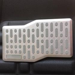 """Универсальный серый Footmats подходят для всех автомобилей Противоскользящие ног коврики ковровые подушечки DIY Металл одевания 10,5 """"* 5,5"""" в 27*14 см"""