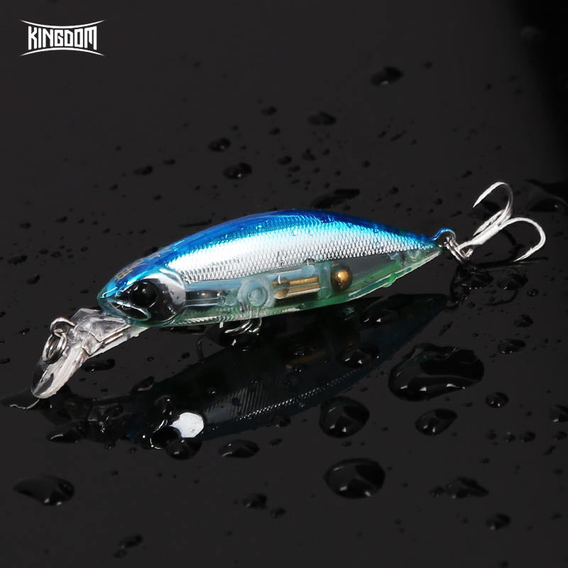 все цены на Kingdom fishing lure tackle 7g 55mm small sea lure minnow for fishing all swimming level minow fish supplies feeder 6504