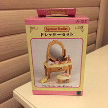 New Japanese Version Sylvanian Families Dressing Table Miniature Dollhouse Furniture Mini Cosmetic Shelf Girls Pretend Toys(China)