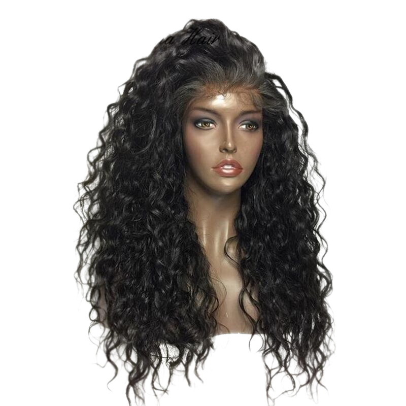 Eseewigs Curly 360 Lace Frontal Wig Pre Plucked with Baby Hair for All Women 180 Density Glueless Lace Wigs Deep Curl Free Part