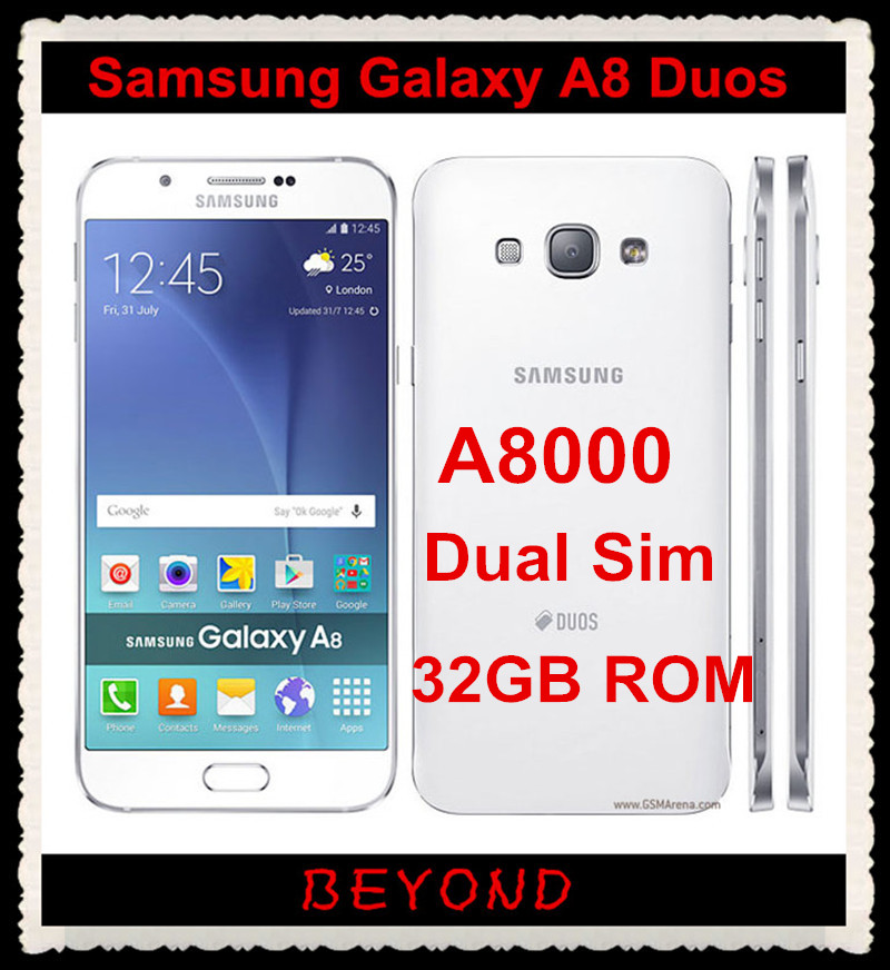 Samsung Galaxy A8 Duos Original Unlocked 4G LTE Android Mobile Phone Octa Core A8000 Dual Sim RAM 2GB 32GB 57 16MP Snapdragon In Phones From