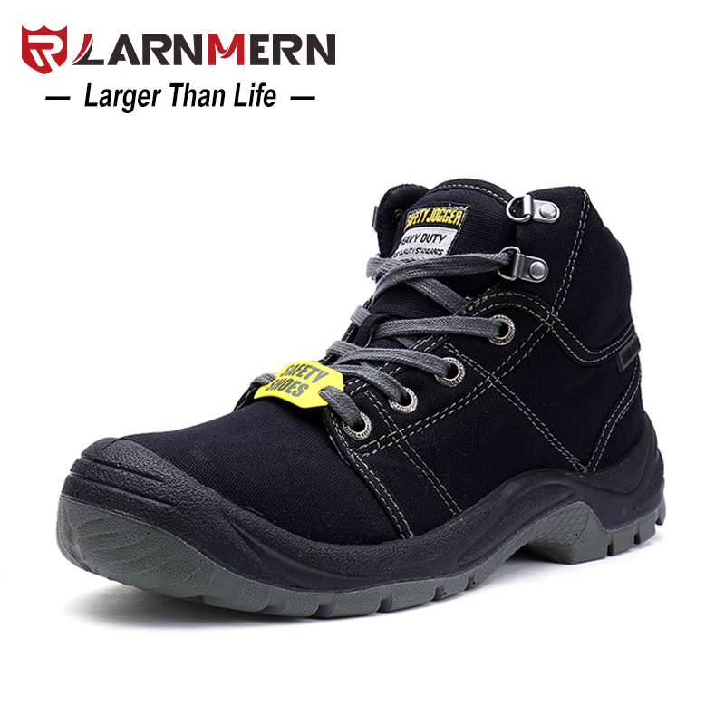 LARNMERN Men Working Safety Boots With Steel Toe Cap DESERT Combat Boots Fashion Breathable Outdoor Safety Footwear Sneaker halinfer men s safety shoes with steel toe cap air mesh round toe breathable casual fashion outdoor men safety boots