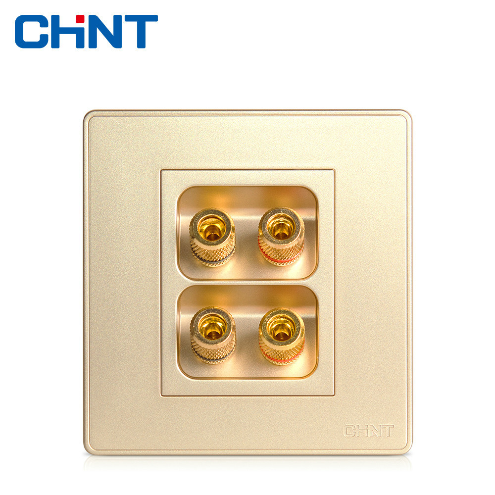 Chint Electric Wall Switch Socket New2d Champagne Gold