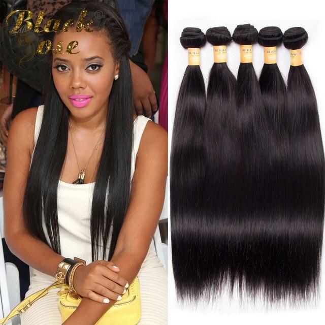 10pcs 6 26inch Peruvian Virgin Hair Straight Human Hair Weave