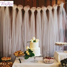FENGRISE 100 Yards Tulle Esküvői Esküvői dekoráció 15cm Tulle Roll kültéri fotózás Photography Birthday Party Decor