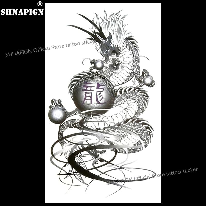 Shnapign Le Dragon Ball Tatouage Temporaire Corps Art Flash Tatouage
