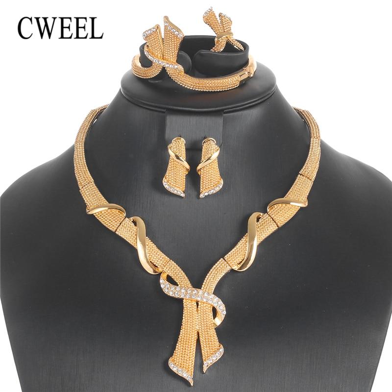 CWEEL Costume Jewelry Sets Luxury Women Turkish Jewelry Geometric African Jewellery Set Nigerian Wedding Indian Jewelry Set geometric sun totem engraved jewelry set