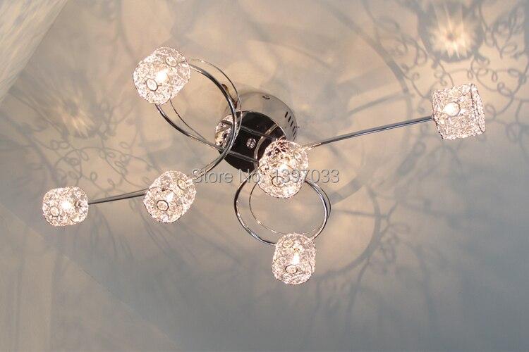 Aufbau Moderne Dekoration Lampe 6 Lampen Mit Aluminium Draht Lampenschirm Und Chrom Halter Freies Dhl/ems Verschiffen Hohe QualitäT Und Preiswert Deckenleuchten & Lüfter Deckenleuchten