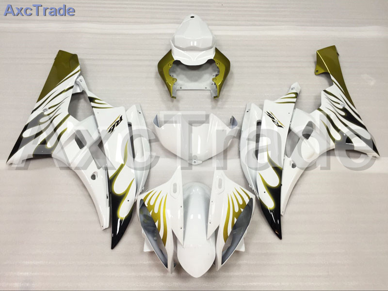 Motorcycle Fairings Kits For Yamaha YZF600 YZF 600 R6 YZF-R6 2006 2007 06 07 ABS Injection Fairing Bodywork Kit White A935 fit for yamaha yzf 600 r6 1998 1999 2000 2001 2002 yzf600r abs plastic motorcycle fairing kit bodywork yzfr6 98 02 yzf 600r cb20