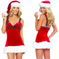 2017 Fashion Sex Female Christmas Costumes Cosplay Women Dress Sexy Red Santa Claus For Adults Christmas