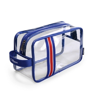 New Man Woman Business Affairs High Quality Waterproof Transparent Portable Toiletries Storage Bag Cosmetic Bag Travelling