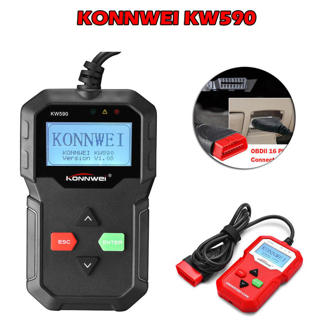 CARPRIE Instrument Tool 2019 NEW hot sale KW590 CAN OBDII EOBD Car Diagnostic Scanner Fault Code Reader NEW high quality 9624