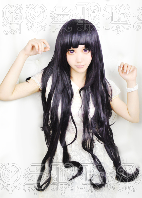 Anime Dangan Ronpa 2 Danganronpa Mikan Tsumiki Cosplay Wigs 100cm Long Heat Resistant Synthetic Hair Wig + Wig Cap