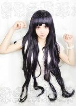 Anime dangan ronpa 2 danganronpa mikan tsumiki cosplay perucas 100cm longo resistente ao calor peruca de cabelo sintético + peruca boné