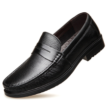 Dropshipping 2019 New Genuine Leather Men Casual Shoes Spring Autumn Breathable Flats Real High Quality DB049