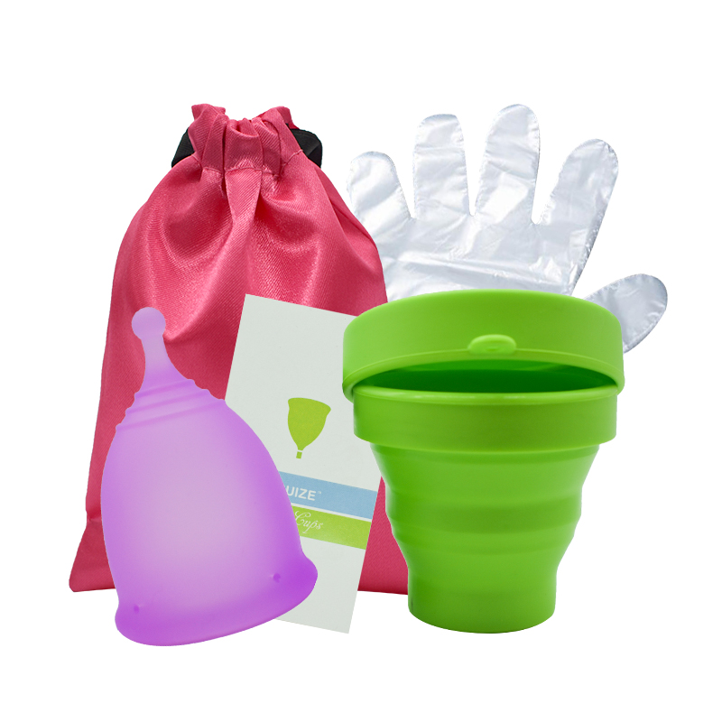 Menstrual Sterilizing Cup with Copa Menstrual Cup 100% Medical Grade silicone Sterilizer Cup Flexible Clean Recyclable Lady Cup