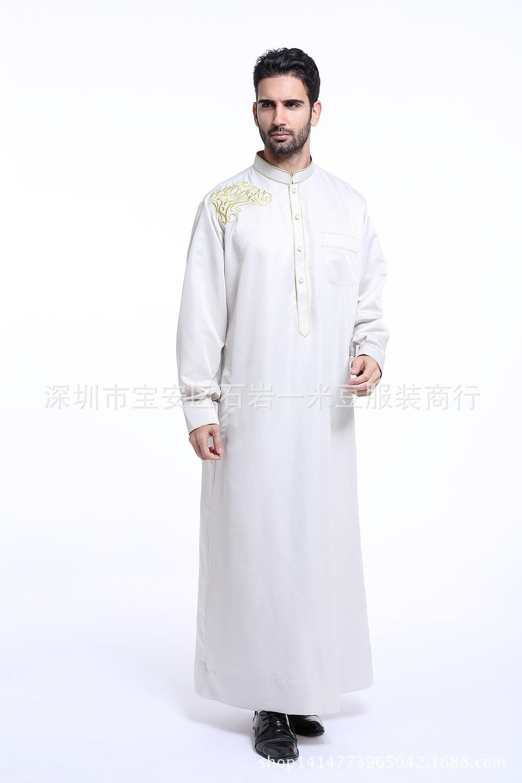 Arab Muslim Clothing for Men The Middle East Arab Male People Dress Thobe Arabic Islamic Abayas Dress Indian Mens Kaftan Robe