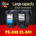 2pcs PG840XL 840XL 840 CL841XL 841XL 841 Remanufactured Ink Cartridge for Canon MG4180 3180 2180 3580 MX528 518 438 378 printers