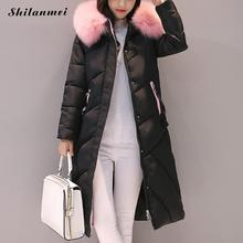 2017 winter women long style coat long sleeve padded parkas pocket zip slim overcoat letters embrodiery coat 3 color m-xxl