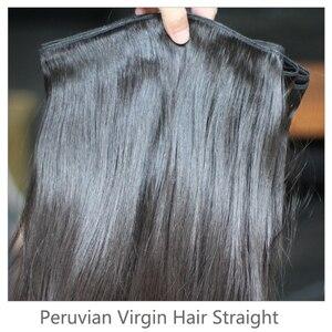 Image 3 - Rosabeauty Natural Color Long Peruvian Hair Straight Human Hair Weave 3 4 Bundles Unprocessed Raw Virgin Hair 30 28 Inches
