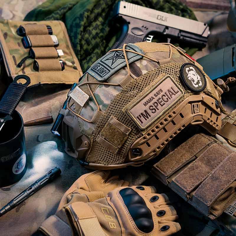 OneTigris Taktische Multicam Helm Abdeckung für Ops-Core SCHNELL PJ Helm und OneTigris PJ Helme