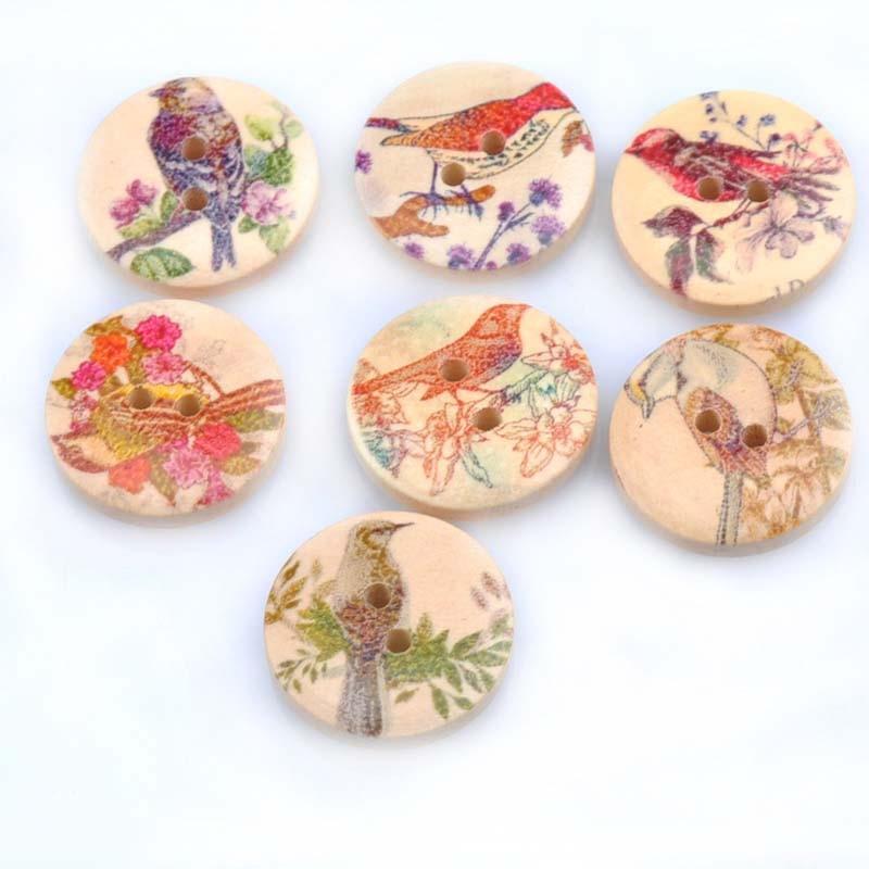 20 шт./лот ручная работа деревянные пуговицы окрашенные Швейные аксессуары популярные швейные изделия - Цвет: 11