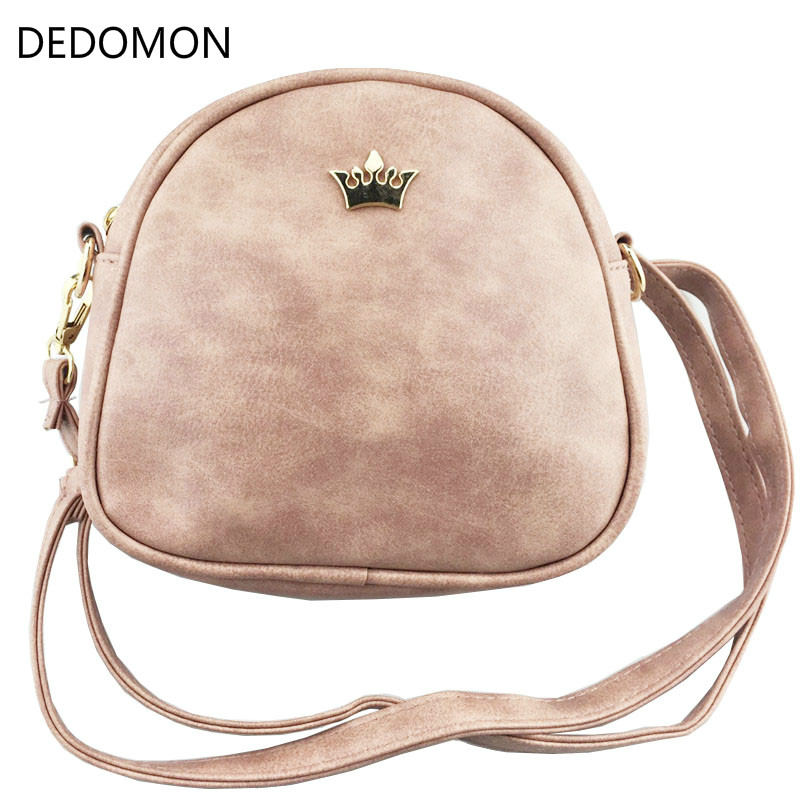 2017 Handbag Phone Purse Women Small Bag Imperial Crown PU Leather Women Shoulder Bag Small Shell Crossbody Bag Brand Designer women designer leather smiley trapeze handbag luxury lady smiling face purse shoulder bag girl crossbody bag sac femme neverfull