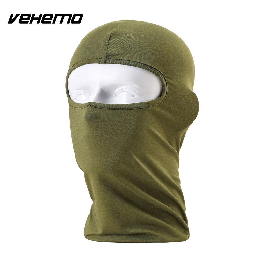 Vehemo аксессуары для улицы полная мотоциклетная маска для защиты лица шапки унисекс 14 цветов Практичная Балаклава лайкра защита удобный - Цвет: Army Green