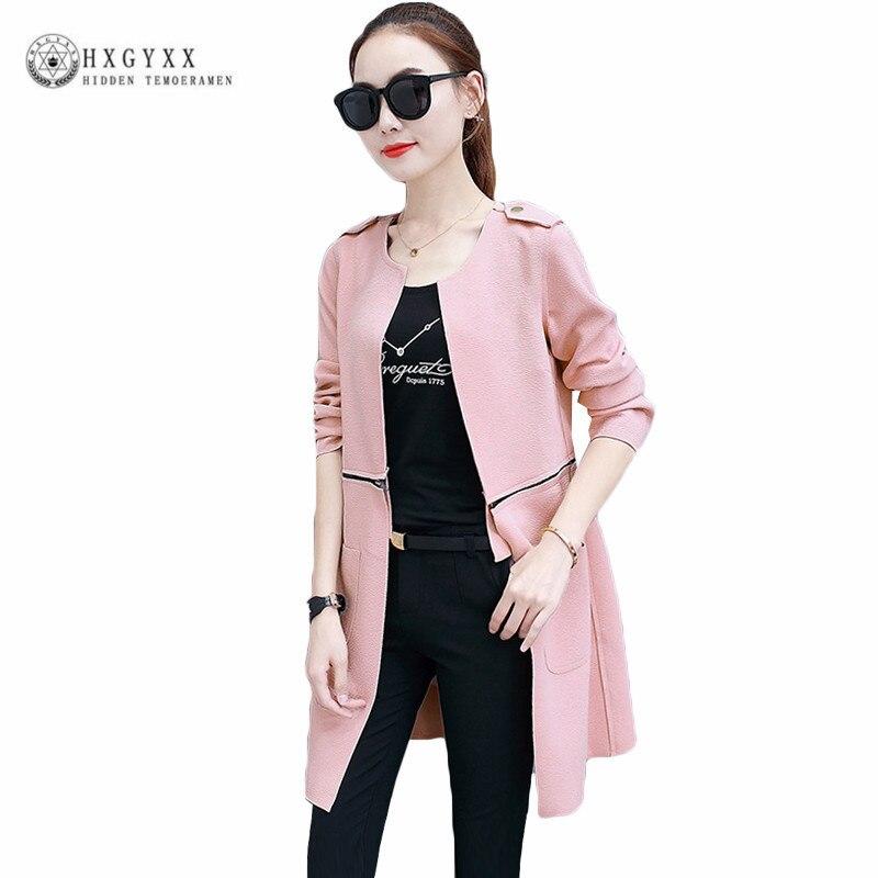 2018 Suede Fabric Trench Coat Women Windbreaker Casual Female Overcoat Ladies Coats Streetwear Zipper Outwear Casaco Okb890