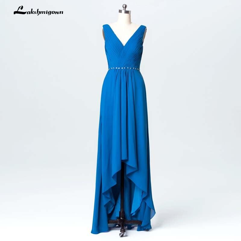 Elegant Blue Chiffon Mother Of Bride Dresses Plus Size Women Formal Evening Dress Vestido Novia