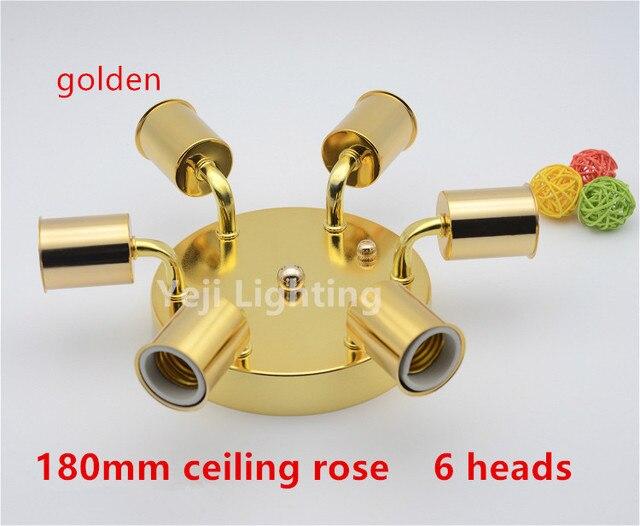 Teste e ceramica porcellana portalampade con oro ferro rosone