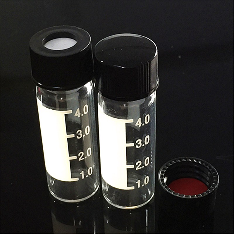 Transparent Screw Neck Chromatography Vial 4ml For Agilent Waters Standard Sample Parse Bottle With Scale Lid