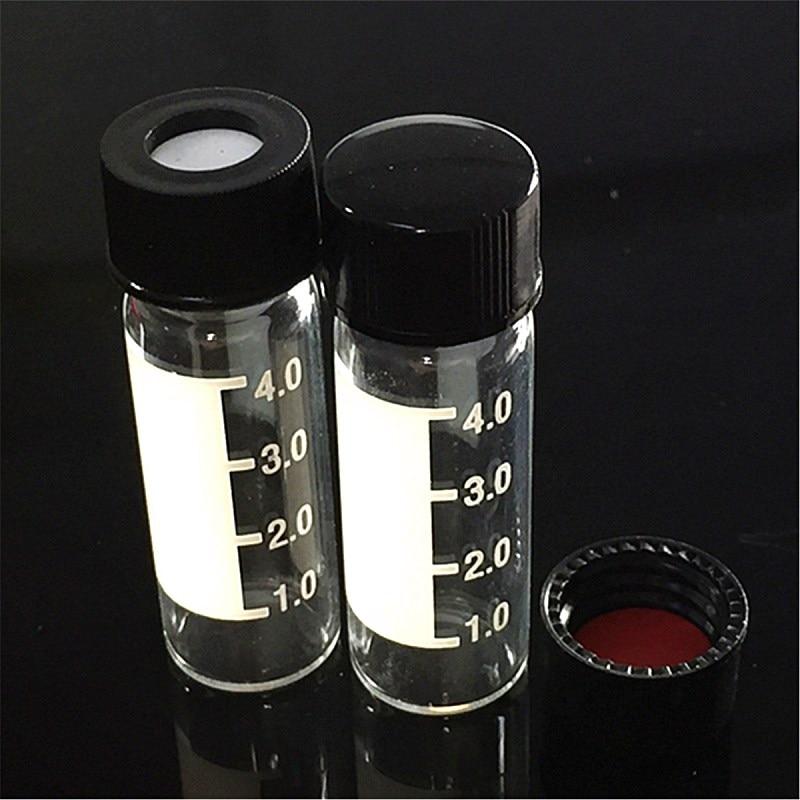 Przezroczysty śruba szyi chromatografia fiolka 4 ml do Agilent/wody próbki wzorcowej podczas przetworzyć otrzymany adres url butelka ze skalą i pokrywką przegrody 13mm 100 sztuk w Butelka laboratoryjna od Artykuły biurowe i szkolne na AliExpress - 11.11_Double 11Singles' Day 1