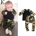 Army Camouflage Baby Boy Clothes Long Sleeve Newborn Clothing Infant Tracksuit Girls Boys Sport Suit Printed Costume For Kids