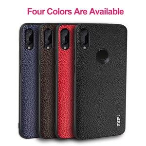 Image 2 - Pour Xiaomi Redmi Note 7 housse pour Redmi Note 7 Pro étui MOFi Silicone antichoc Capas Original en cuir PU Folio Coque
