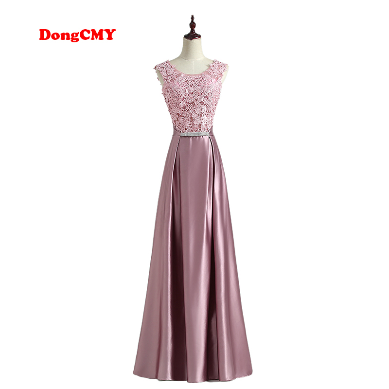 Evening Dress New 2019 DongCMY Robe De Soiree Long Lace Plus Size Formal Elegant Fashion Party Floor Length Gown